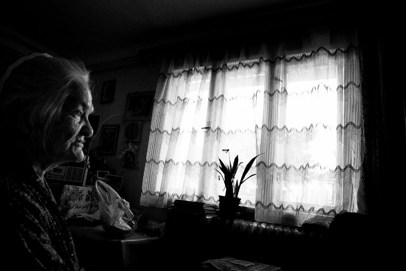 portrait, old, lady, 80 years and older