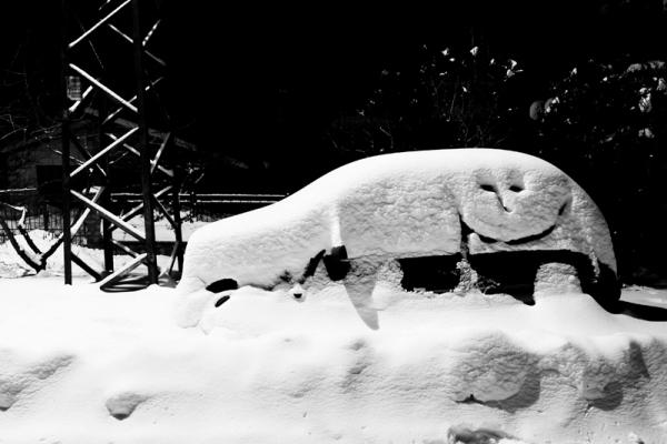 kanjiza, kanizsa, serbia, snow, winter, car