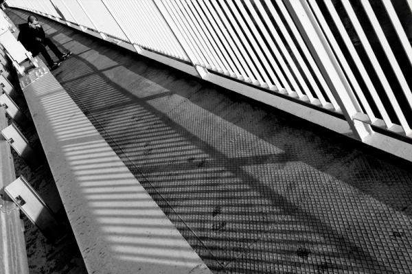 novi kenzevac, bridge, serbia, man, shadow