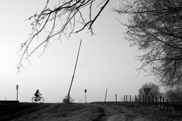 bike, silhouette, kanjiza, serbia