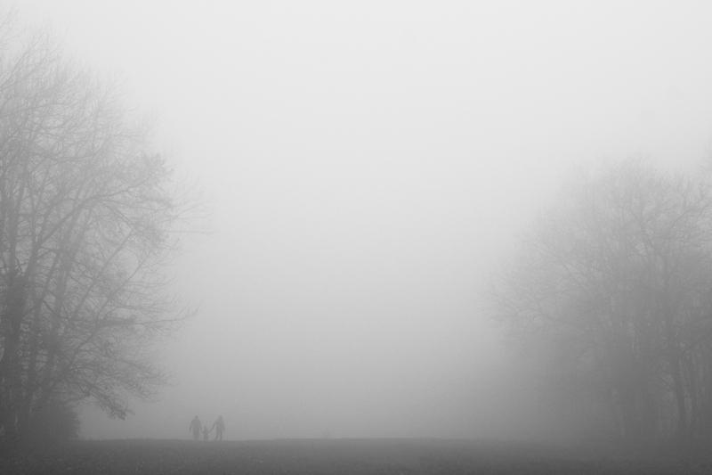 budapest, normafa, people, fog, parents, child