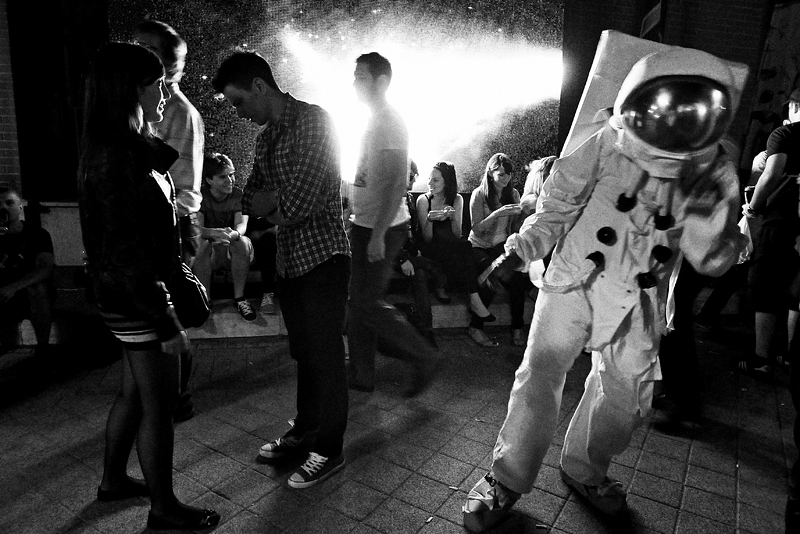 budapest, people, astronaut, street