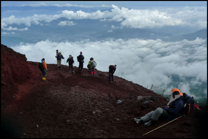 Sleeping on Fuji