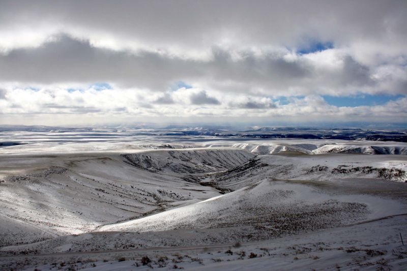 Winter in southwest Wyoming