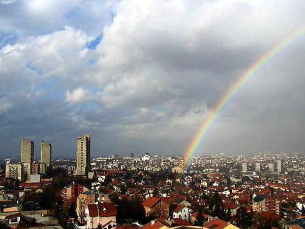 Belgrade under the rainbow