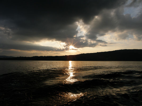 Vlasina lake sunset