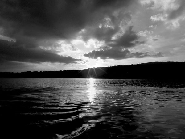 vlasina lake sunset serbia