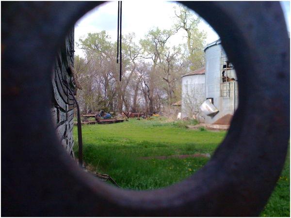 Farm through metal