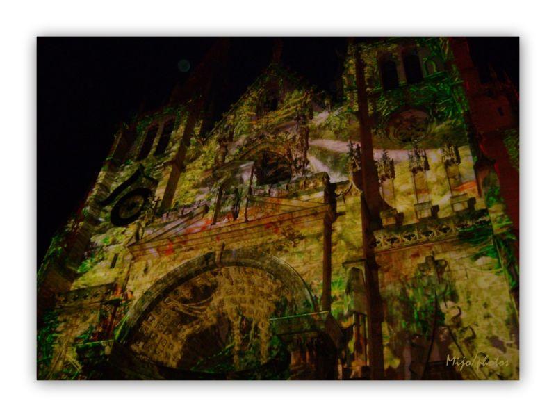 Fête des lumières Lyon : l'église Saint Nizier