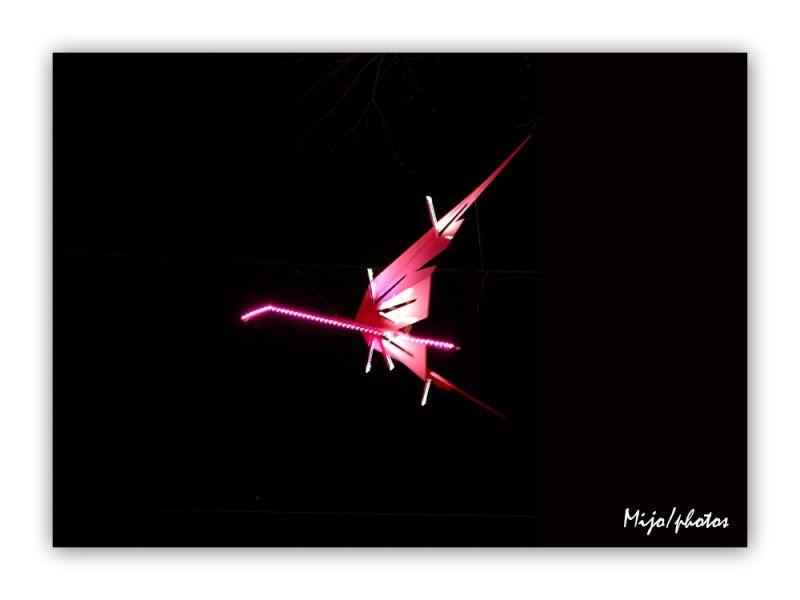 Fête des lumières Lyon : les flamants roses
