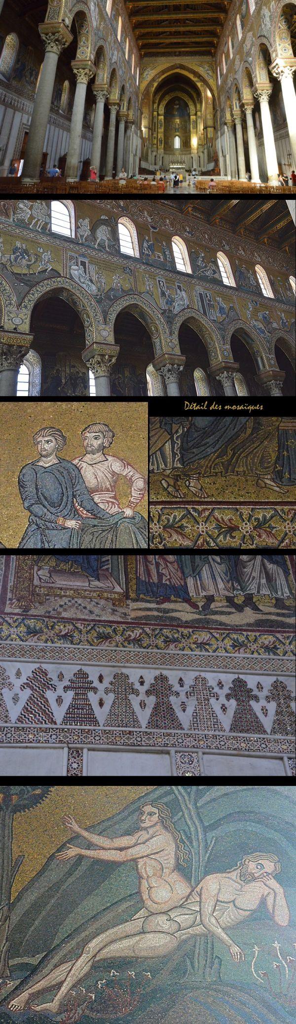 Sicile /4 : cathédrale de Monréale : l'intérieur