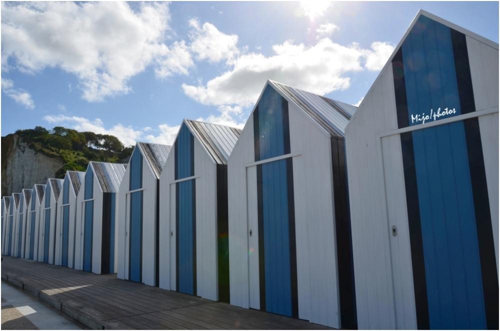 Normandie /2 : Yport et ses cabines