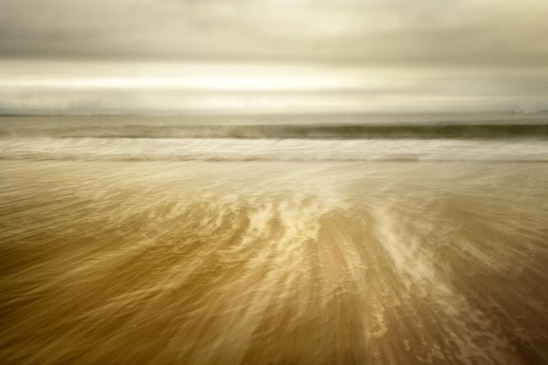 waves breaking on a Northumbrian beach