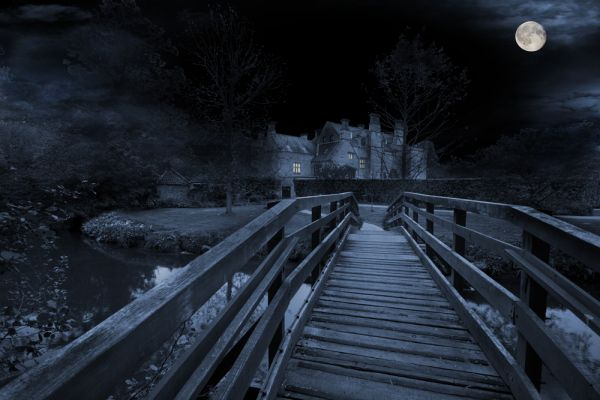 Nunnington Hall by night