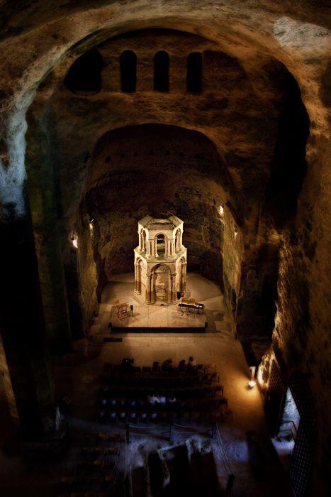 the underground church at Aubeterre