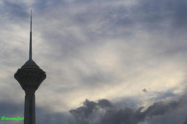 Great Tower in Clouds Ocean