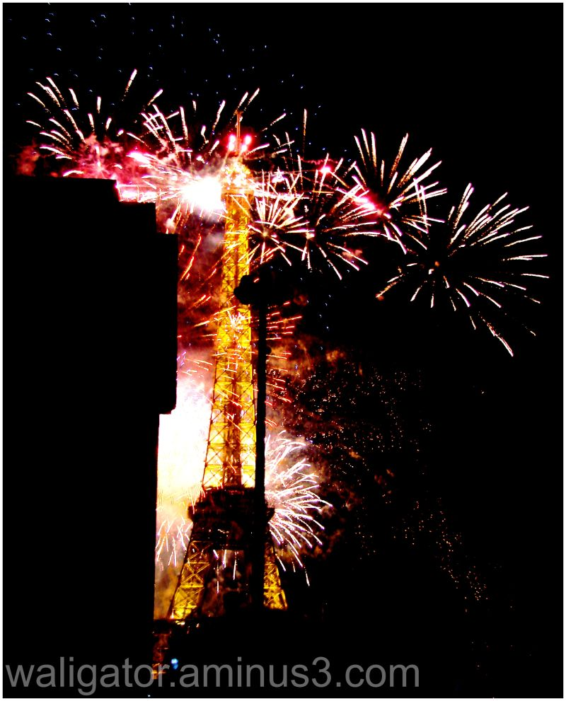 La tour Eiffel sous les feux du 14 juillet