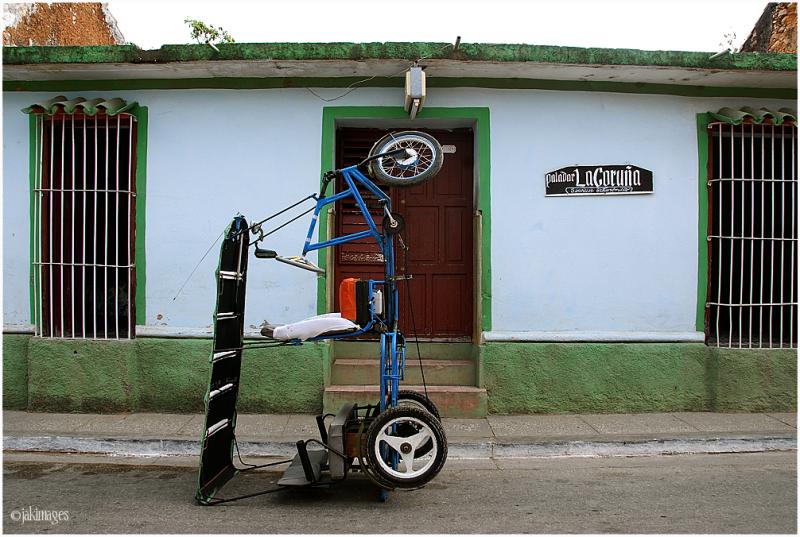 Taxi cubain au repos
