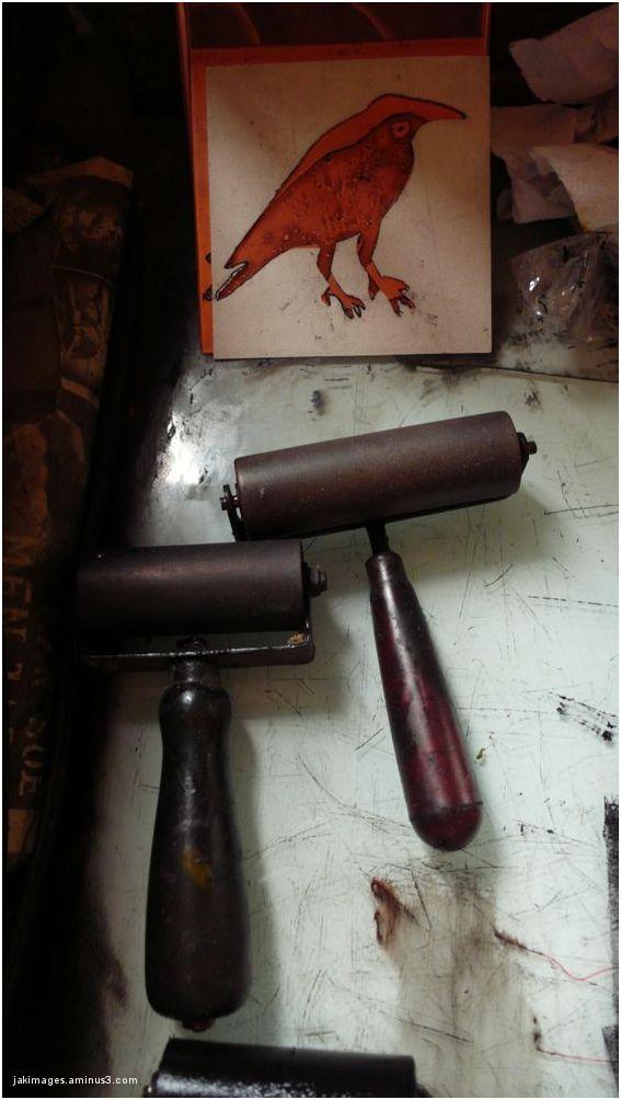 les outils du graveur imprimeur
