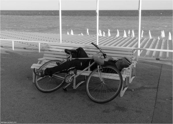 sieste à vélo