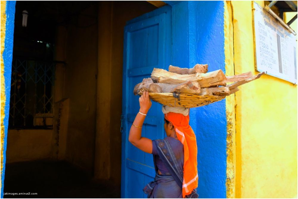 La porteuse de bois ( Madurai)