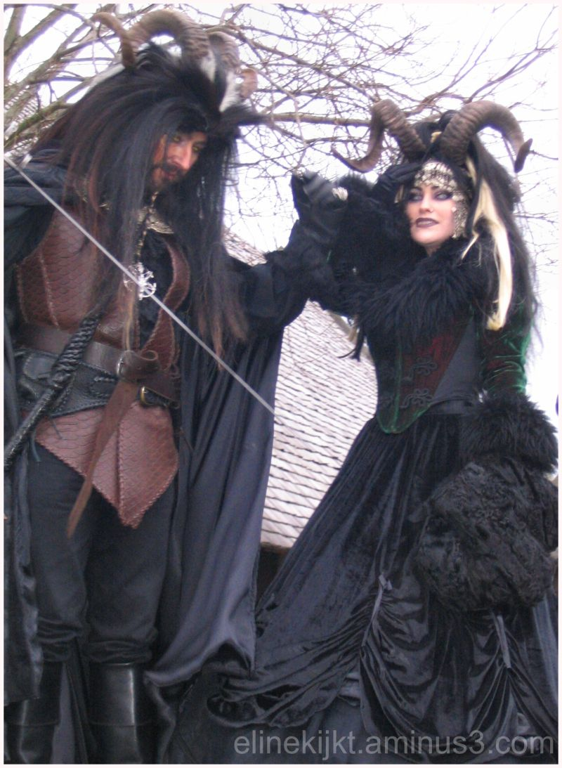 people in costumes at fantasy fair netherlands