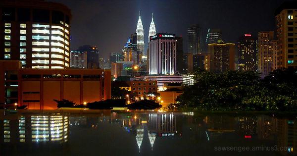 night skyline of Kuala Lumpur 2