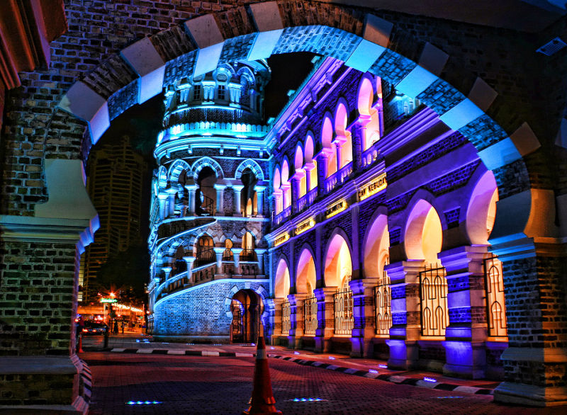 .....a framed view of a kaleidoscope of  lights