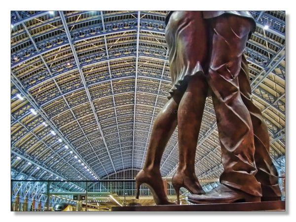 St. Pancras Station interior statues
