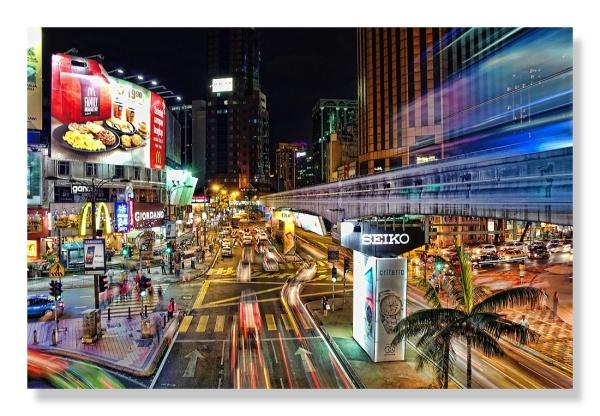 downtown Kuala Lumpur light motion nightshot