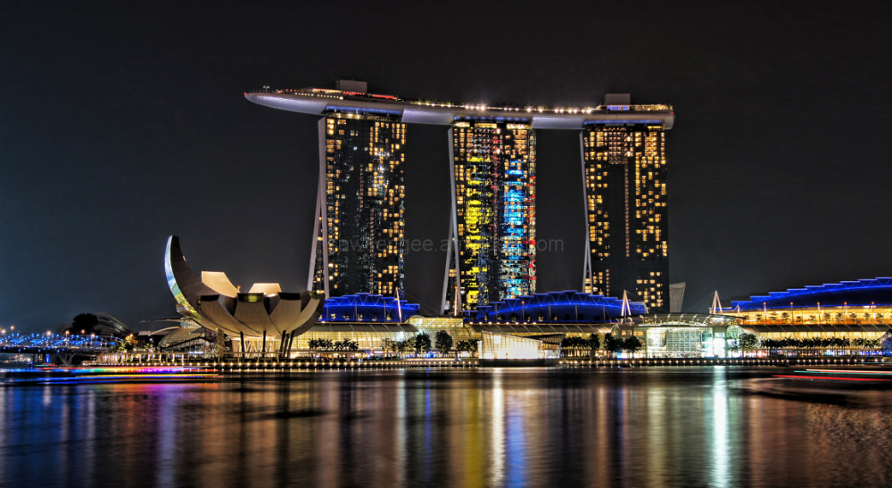 Singapore marina bay nightview