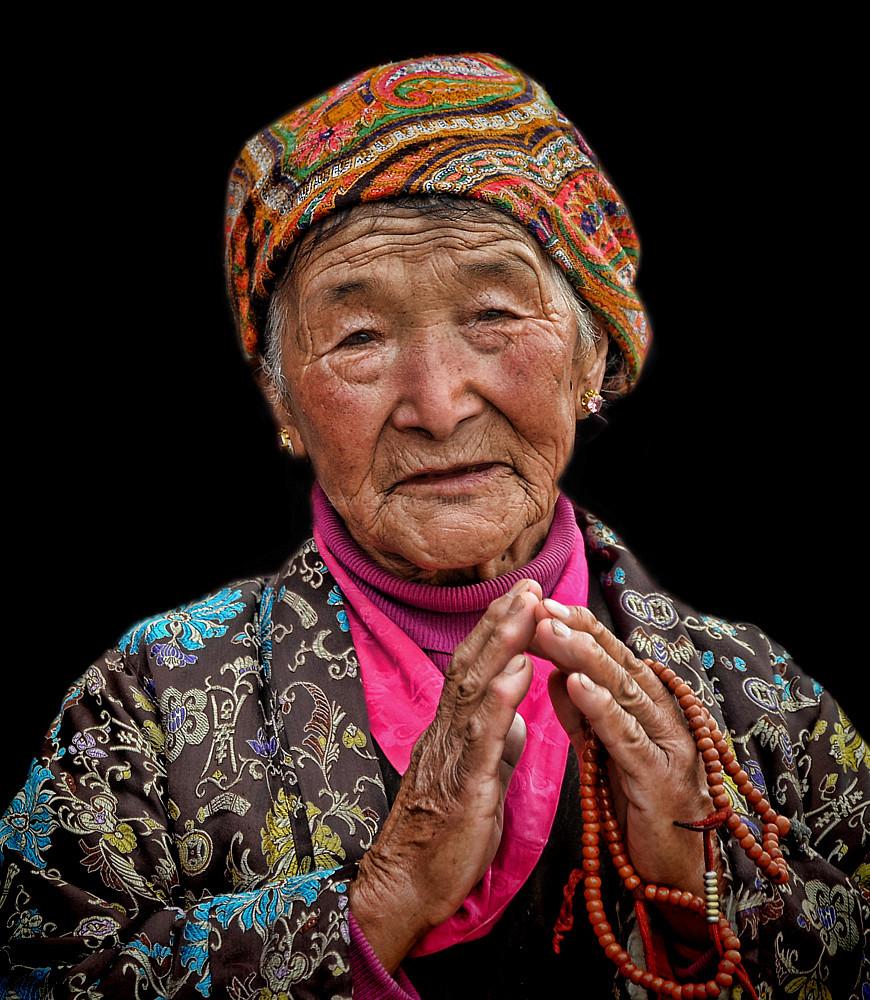 portrait pilgrim Boudhnath Kathmandu Nepal