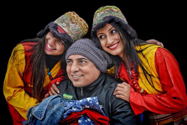 portrait Boudhanath Kathmandu Nepal winter