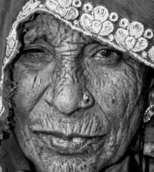 old woman of Rajasthan