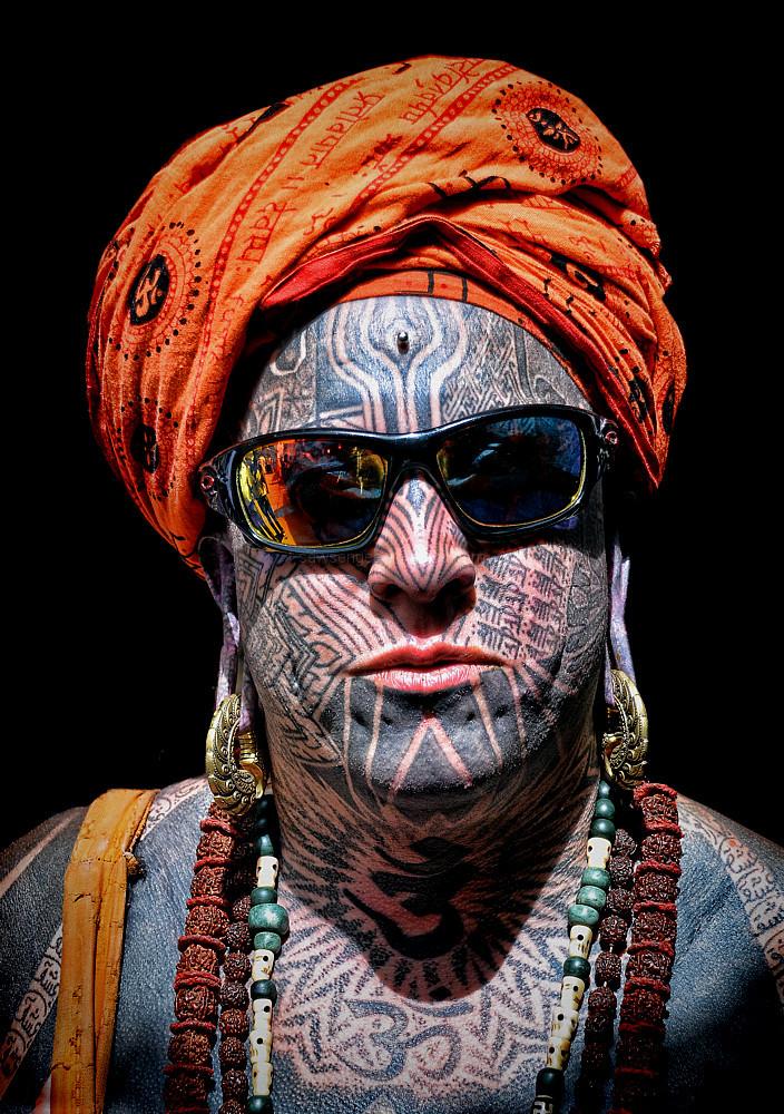portrait tattoo  Pushkar India