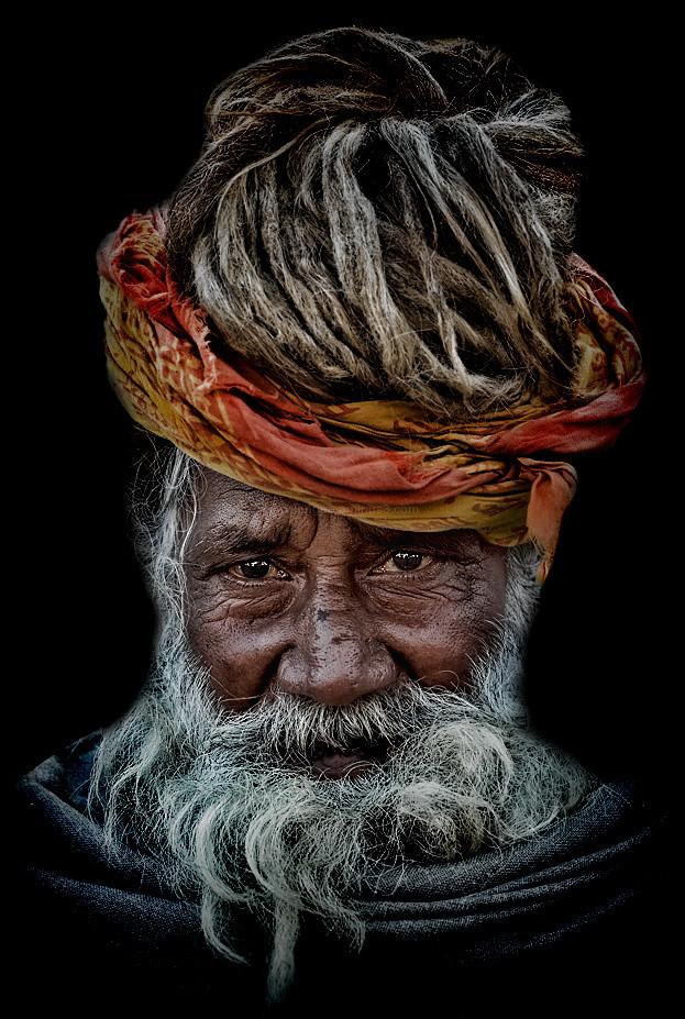 portrait sadhu Haridwar India