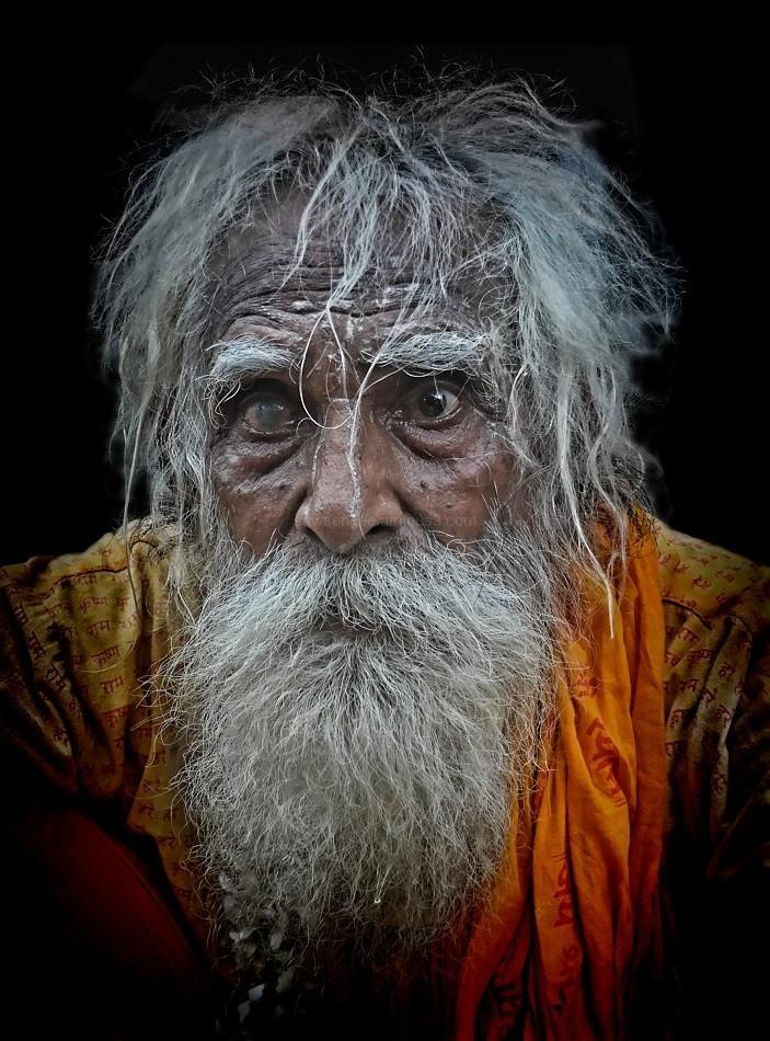sadhu hindu portrait Varanasi India