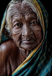 An old woman from Hampi