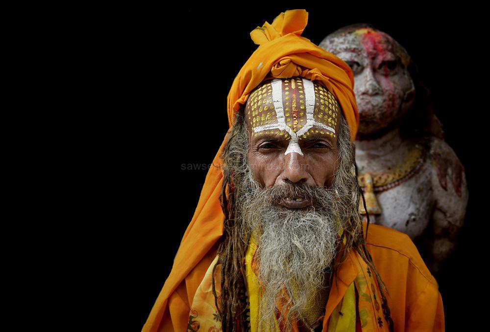 sadhu street portrait Kathmandu Nepal