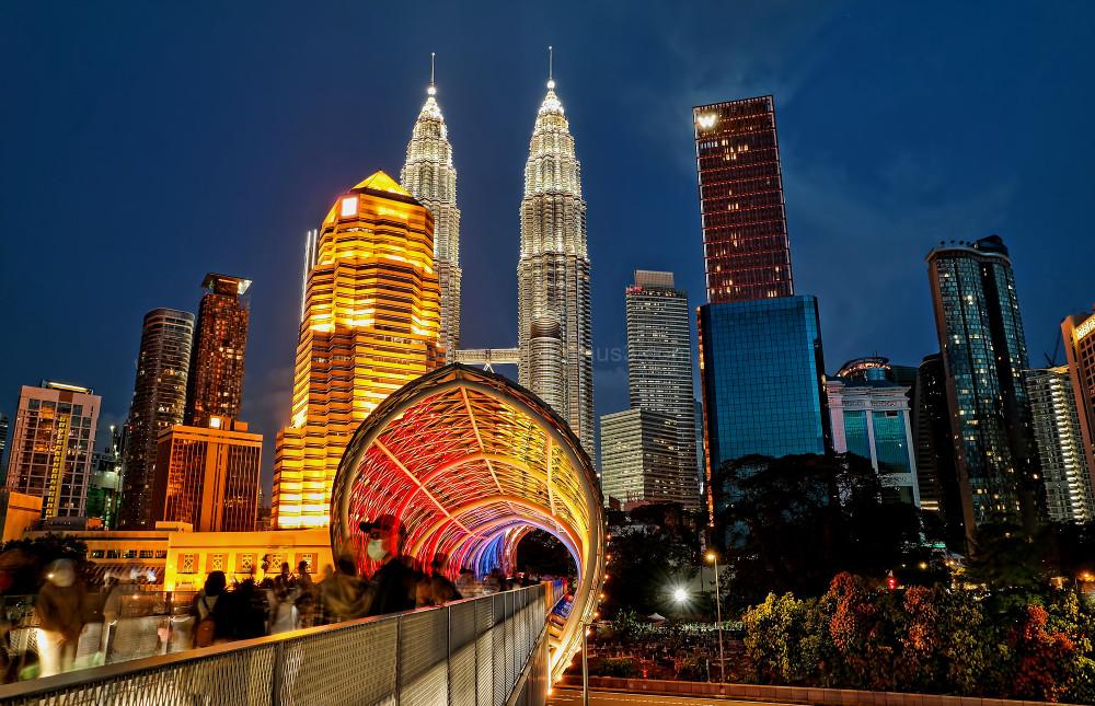 Kuala Lumpur blue hour photography cityscape