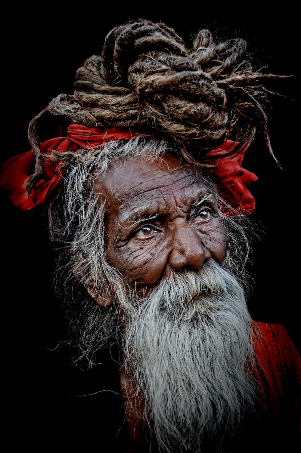 hindu pilgrim Haridwar dreadlock hair naturallight