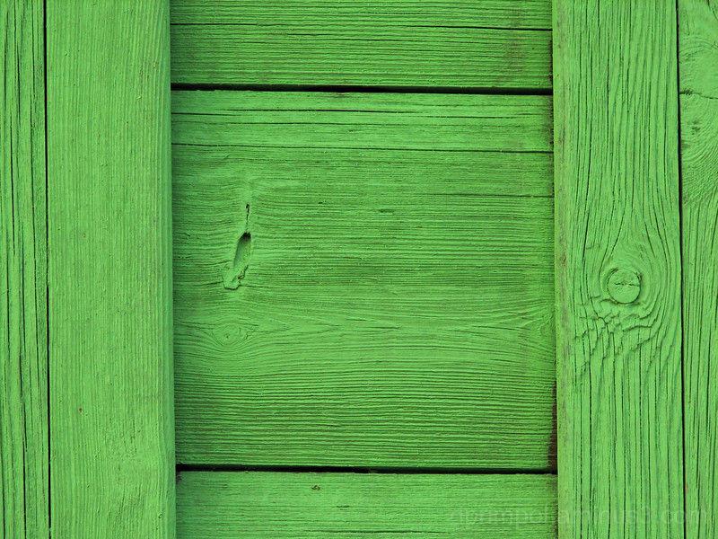 green wooden