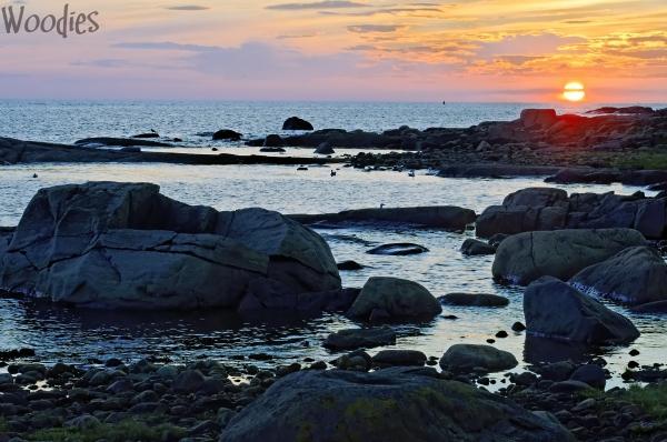 Sunset at Varberg coast