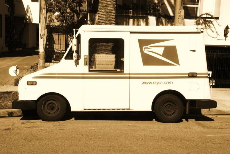 post man van !