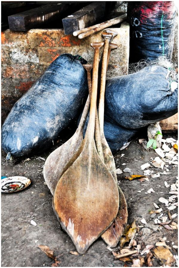 Hand crafted boat paddles