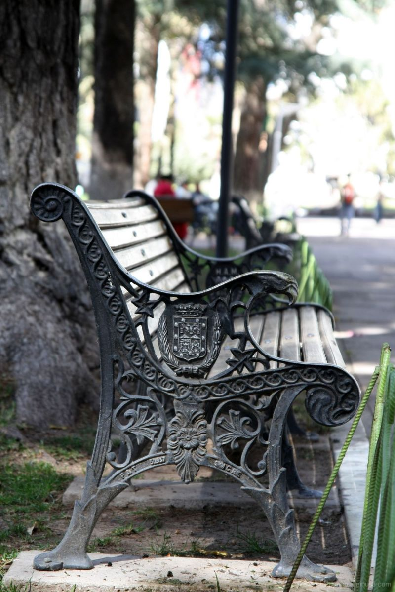Bench in Sucre, Bolivia