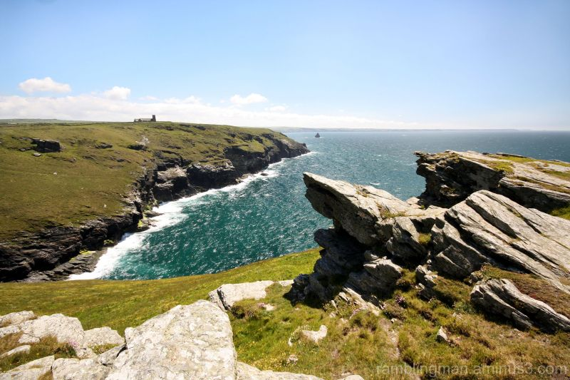 View of the mainland from Tintagel Island