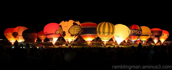 The Nightglow at the Bristol Balloon Fiesta