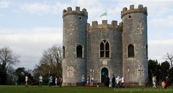 Re-enactment group by Blaise Castle, Bristol