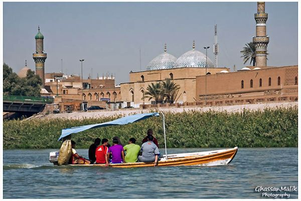 Iraq,Boat,River